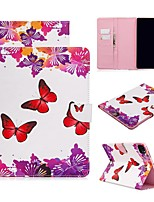 cheap -Case For Apple iPad Air/iPad 4/3/2/Mini 3/2/1 Wallet / Card Holder / with Stand Full Body Cases Butterfly PU Leather For iPad Pro 9.7/New Air 10.5 2019/Pro 11 2020/Mini 5/2017/2018/ipad 10.2