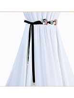 cheap -Plain Poplin Wedding / Party / Evening Sash With Petal / Belt / Appliques Women's Sashes