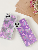 cheap -Case For Apple iPhone 11 / iPhone 11 Pro / iPhone 11 Pro Max Shockproof / Flowing Liquid Back Cover Butterfly TPU