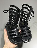 cheap -Girls' Comfort PU Sandals Big Kids(7years +) Black / Khaki / Beige Summer