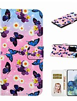 cheap -Case For Samsung Galaxy S20 / Galaxy S20 Plus / Galaxy S20 Ultra Wallet / Card Holder / with Stand Full Body Cases Butterfly Flower PU Leather / TPU for Galaxy A51 / A71 / A80 / A70 / A50 / A30S / A20