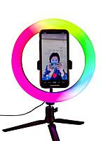 Недорогие -1 шт. 16см / 26см светодиодный кольцевой свет студийное фото видео лампа с регулируемой яркостью камеры селфи телефон с подставкой для штатива и пультом дистанционного управления
