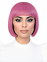 cheap -Synthetic Wig Straight Halloween Christmas Short Bob Wig Pink Short Lake Blue Pink Synthetic Hair 12 inch Women's Cute Simple Best Quality Blue Pink hairjoy