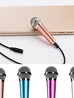 Недорогие -микрофон караоке проводной микрофон ручной микрофон синий 3,5 штекер для телефона компьютер