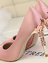 cheap -Women's Heels Spring & Summer Stiletto Heel Pointed Toe Daily Solid Colored PU White / Black / Pink