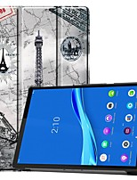 cheap -Case For Lenovo M10 TB-X605F/X505F /Tab P10(TB-X705F / L) / Tab E10 TB-X104 Card Holder/Flip Full Body Cases Eiffel Tower PU Leather Case For Lenovo Tab M7 TB-7305F /Tab E8(TB-8304F) /Tab E7(TB-7104)