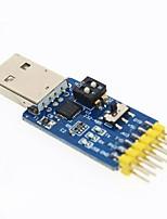 cheap -6 in 1 CP2102 USB to TTL 485 232 3.3/5V Mutual Convert 6 in 1 Convert Module