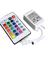 cheap -24 Key 16 Color Ir Remote Control Controller For 3528 5050 SMD RGB LED Strip 12V