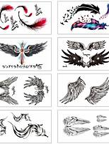 Недорогие -8 pcs Временные татуировки Защита от влаги / Мини / Безопасность Лицо / Корпус / руки Наклейка для переноса воды Краски для рисунков на теле