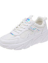 cheap -Women's Trainers / Athletic Shoes Spring &  Fall / Spring Flat Heel Round Toe Casual Daily Color Block Mesh Walking Shoes White / Pink / Beige