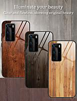 Недорогие -Роскошные деревянные зерна телефон закаленное стекло чехол для Huawei P40 Pro P40 Lite P20 Lite 2019 P30 Pro P20 Pro P30 Lite Mate 30 Pro MATE 30 Lite Мягкая рама ТПУ противоударная защита задняя