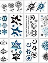 cheap -10 pcs Temporary Tattoos Water Resistant / Waterproof / Mini Style / Safety Face / Body / Hand Water-Transfer Sticker Body Painting Colors