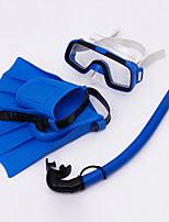 Недорогие -Наборы для снорклинга - Маска для ныряния Ласты для дайвинга шноркель - подводный Противо-туманное покрытие Короткие ласты Для погружения с трубкой PVC Для Дети