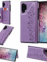 cheap -Case For Samsung Galaxy Galaxy S10 / Galaxy S10 Plus / Galaxy S10 E Card Holder / with Stand Back Cover Cat PU Leather