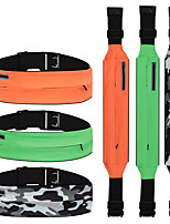 cheap -Running Belt Fanny Pack Belt Pouch / Belt Bag for Running Hiking Outdoor Exercise Traveling Sports Bag Adjustable Waterproof Portable Polyester Men's Women's Running Bag Adults