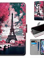 cheap -Case For LG Q70 / LG K50S / LG K40S Wallet / Card Holder / with Stand Full Body Cases Tower Bridge PU Leather / TPU for LG K30 2019 / LG K20 2019
