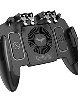 cheap -PUBG Mobile Joystick Controller Turnover Button Gamepad for PUBG iOS Android Six 6 Finger Operating Gamepad With Cooling Fan