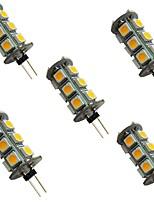 Недорогие -5 шт. 2 W Двухштырьковые LED лампы 200 lm G4 18 Светодиодные бусины SMD 5050 Тёплый белый Белый 12 V