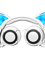 cheap -Kids LX-CL107 Headphone LED light Flashing Glowing Cat Ears Headset Wired gaming Earphone HIFI Stereo Bass headphones for Phone