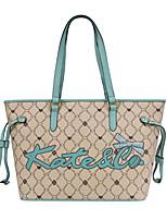 cheap -Women's Tassel / Zipper PU Tote / Top Handle Bag Leather Bags Letter Camel / Fall & Winter