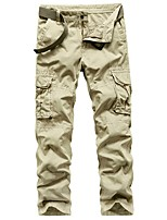 cheap -Men's Hiking Pants Hiking Cargo Pants Summer Outdoor Loose Breathable Quick Dry Soft Sweat-wicking Cotton Pants / Trousers Bottoms Running Camping / Hiking Hunting Dark Grey Black Khaki 29 30 31 32 33