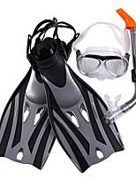 Недорогие -Наборы для снорклинга - Маска для ныряния Ласты для дайвинга шноркель - подводный Противо-туманное покрытие Короткие ласты Для погружения с трубкой PVC Для Взрослые