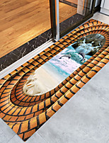Недорогие -3d пляжная печать высокого качества пены памяти ванной коврик и коврик на двери нескользящий абсорбент супер удобный фланель коврик для ванной коврик
