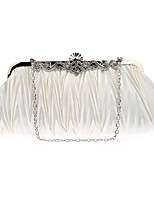 cheap -Women's Chain Polyester Evening Bag 2020 Solid Color Wine / Black / Blue