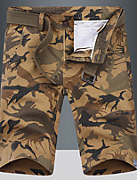 """cheap -Men's Hiking Shorts Hiking Cargo Shorts Camo Summer Outdoor 10"""" Standard Fit Breathable Quick Dry Front Zipper Sweat-wicking Cotton Shorts Bottoms Camping / Hiking Hunting Fishing Dark Grey Army"""