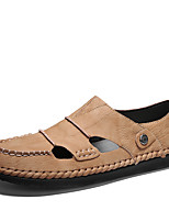 cheap -Men's Spring & Summer Classic / British Daily Outdoor Sandals Walking Shoes Leather Breathable Wear Proof Camel / Black / Beige