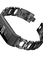 cheap -Watch Band for Fitbit Charge 3 Fitbit Sport Band / Jewelry Design Stainless Steel Wrist Strap