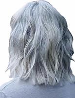 Недорогие -Парики из искусственных волос Кудрявый Матовое стекло Средняя часть Парик Короткие Кремово-белые Искусственные волосы 14 дюймовый Жен. Простой Удобный пушистый Белый