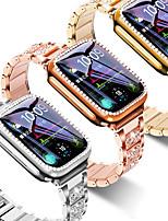 Недорогие -Чехол для Apple Watch 40мм 44мм 38мм 42мм для iwatch серии 5 4 3 2 1 браслет из нержавеющей стали с бриллиантами