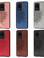 cheap -Case For Samsung Galaxy S20 Plus / S20 / S20 Ultra Pattern Back Cover Flower Oxford Cloth for S7 / S7 Edge / S8 / S8 Plus / S20 / S20 Ultra / S20 Plus