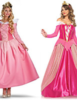 cheap -Princess Sleeping beauty Aurora Dress Cosplay Costume Outfits Women's Movie Cosplay A-Line Slip Halloween Pink / Fuchsia Dress Headwear Halloween Carnival Masquerade Satin / Tulle Polyester
