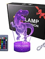 cheap -Dinosaur Gifts Night Light  3D Lamp Lighting Lights for Kids 7 LED Color Changing Touch Table Desk Lamps Cool Toys Gifts Birthday Xmas Decoration