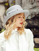 cheap -Headwear Casual Polyester Hats with Bowknot / Imitation Pearl 1pc Wedding / Daily Wear Headpiece