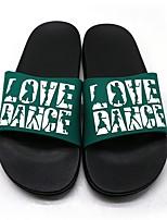 cheap -Women's Slippers & Flip-Flops Summer Flat Heel Open Toe Daily PU Black / Red / Fuchsia