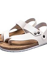 cheap -Men's Summer Outdoor Sandals PU Non-slipping White / Black / Silver
