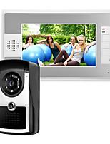 Недорогие -7-дюймовый проводной видеодомофон ик-камера с функцией разблокировки монитора p812m11