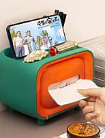 cheap -Cute Mini Radio Shape Tissue Holder Storage Box Container Home Office Restaurant Desktop Decor