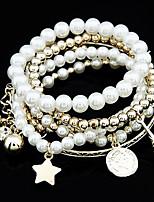 cheap -6pcs Women's Bracelet Classic Wedding Birthday Vintage Theme European Trendy Casual / Sporty Ethnic French Alloy Bracelet Jewelry Gold / Silver For Date Festival