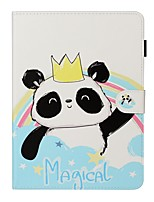 cheap -Case For Apple iPad New Air 10.5 / iPad Mini 3/2/1/4/5 Card Holder / with Stand / Flip Full Body Cases Panda PU Leather For iPad 10.2 2019/Pro 11 2020/Pro 9.7/2017/2018