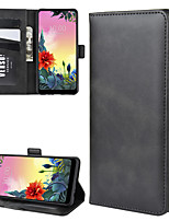 cheap -Case For LG LG K30 2019 / K50S Wallet / Card Holder / Shockproof Full Body Cases Solid Colored PU Leather