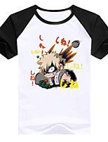 cheap -Inspired by My Hero Academia Boko No Hero Toga Himiko Cosplay Costume T-shirt Polyster Print Printing T-shirt For Men's / Women's