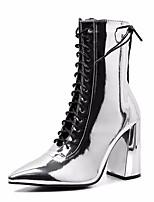 cheap -Women's Boots Summer Stiletto Heel Round Toe Daily PU Black