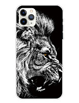 cheap -Case For Apple iPhone 11/11 Pro/11 Pro Max/XS/XR/XS Max/8 Plus/7 Plus/6S Plus/8/7/6/6s/SE/5/5S Transparent Pattern Back Cover Lion Soft TPU