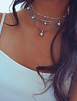 cheap -Women's Choker Necklace Chrome Silver 40 cm Necklace Jewelry 1pc For Daily