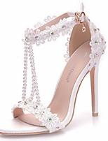 cheap -Women's Wedding Shoes Spring & Summer Stiletto Heel Round Toe Daily Solid Colored PU Purple / Red / Pink