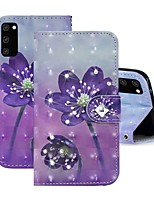 cheap -Case For Samsung Galaxy A91 / M80S / Galaxy A81 / M60S / S20 Plus Wallet / Rhinestone / with Stand Full Body Cases Flower PU Leather For Samsung Galaxy S20 Ultra/A01/A11/A21/A41/A70E
